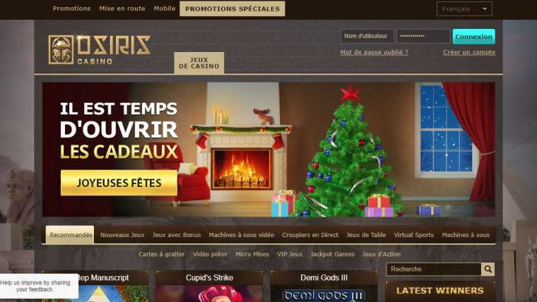 Avis casino Osiris : avis détaillé et objectif de notre équipe !
