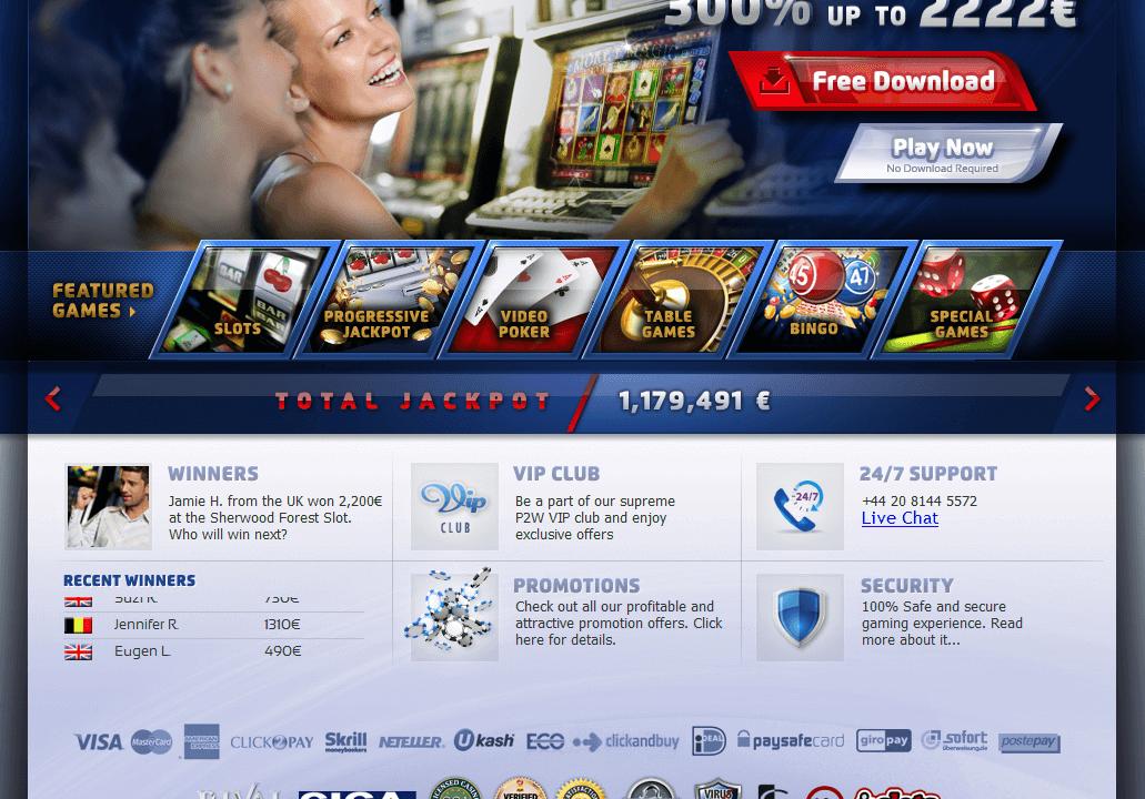 avis play2win casino
