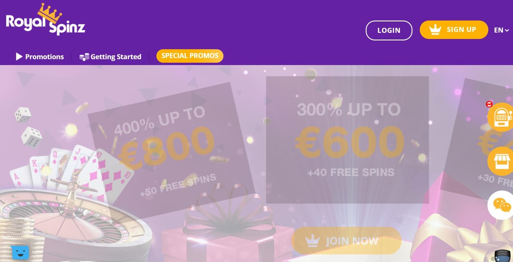 Avis Royal Spinz casino : notre aivs objectif et détaillé