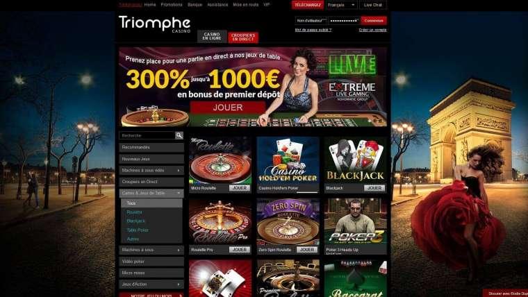 Casino Triomphe avis : ce que nous pensons de ce casino en ligne