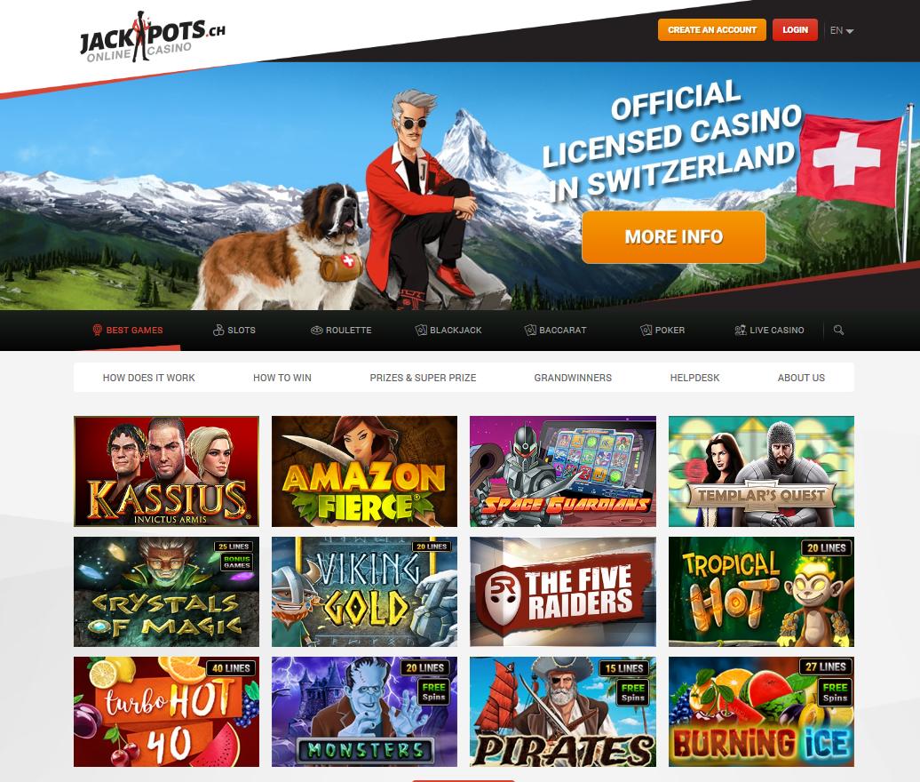 Jackpots CH : que penser de ce casino en ligne ?