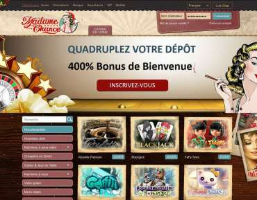 Madame Chance avis : un bonus de bienvenue de 2 400 € !