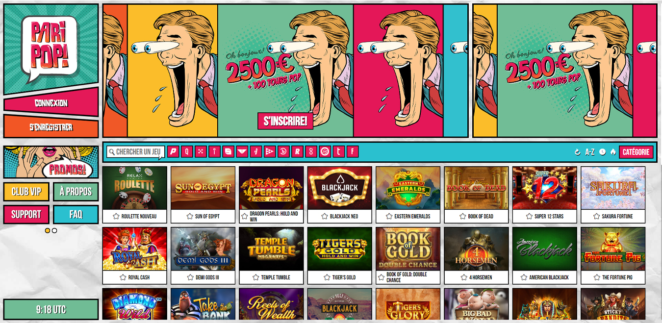 Pari Pop Casino : amusez-vous avec un bonus de 2 500 euros !