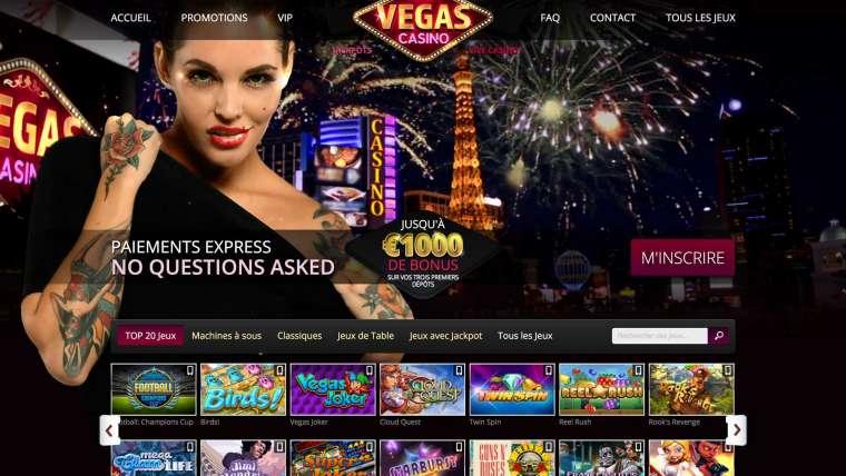 Vegas Casino Avis : le casino qui vous offre 1 000€ !